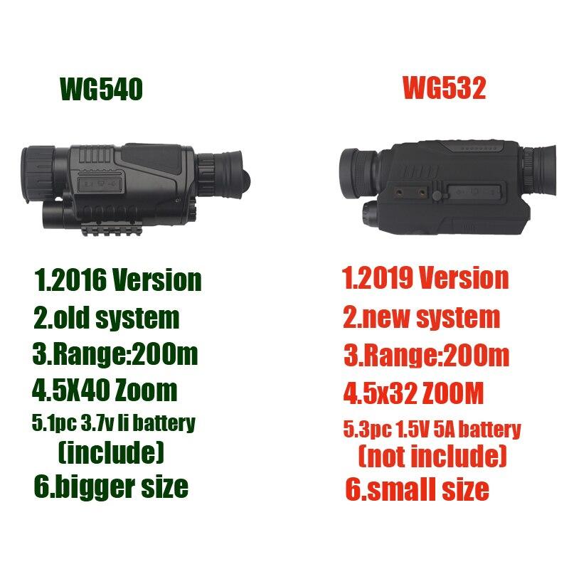 5X40 Vision nocturne numérique monoculaire infrarouge 940NM Vision nocturne portée de chasse avec 8G TF carte livraison gratuite - 2