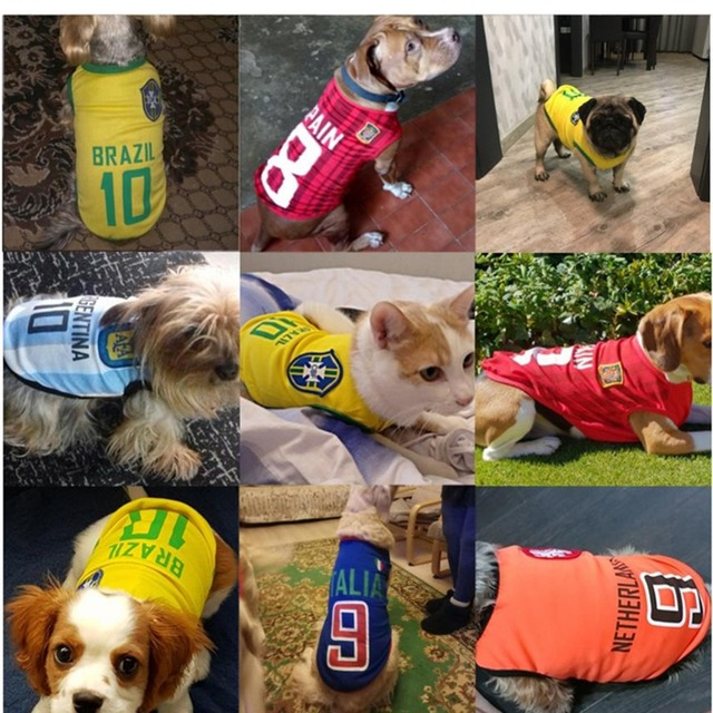 Pet Soft Dogs Sports Dog Vest Cat Shirt Pet Clothing Sweatshirt Football Jersey Spring Summer Shirt For Small Medium Large Dogs