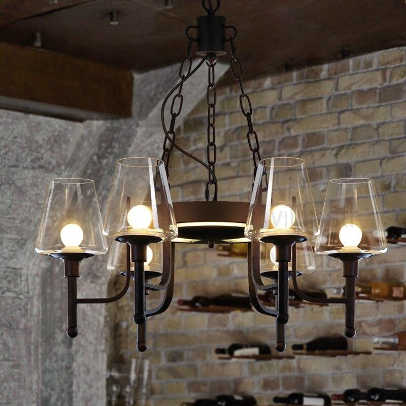 Willlustr светодиодный подвесной светильник железная индустрия отдых Ресторан Лофт бар подвесной светильник белый прозрачный стеклянный абаж