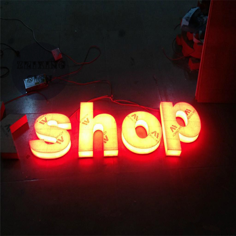 custom outdoor advertising front lit acrylic led letter signchina mainland