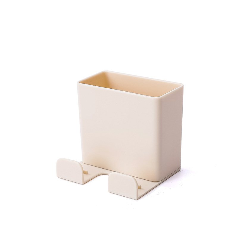 1 шт. настенный органайзер коробка для хранения пульт дистанционного управления кондиционер чехол для хранения мобильного телефона держатель подставка контейнер - Цвет: beige