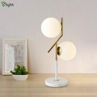 Современные Плиты золото 2 Светодиодная настольная лампа минимализм матовый настольная лампа Мейбл Настольные светильники для кабинет при
