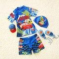 2016 de Alta Calidad Nueva Historieta Del Verano de Dos Piezas de Los Bebés Trajes de Baño Establece Niños traje de Baño Ropa de Playa Envío Libre