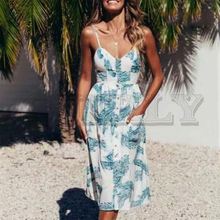 CUERLY Bohemian floral print women dress Sexy v-neck spaghetti strap summer sundress Holiday beach wear button ladies dresses bohemian v neck spaghetti strap floral print women s dress