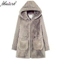 Plus Size S 5XL 2017 New Winter Women S Jacket Coat Fashion Hooded Wool Soft Female