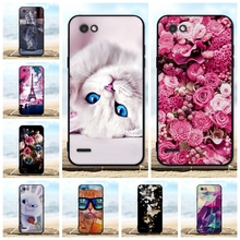FOR LG Q6 Case Cover Soft TPU Silicone Black Shell FOR LG Q6 Alpha M700/ Q6 Plus X600 Case 3D Flower Cute FOR Coque LG Q6A Cases цена и фото