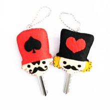 2Pcs/lot key Holder Creative sewing Art Key Holder Simple Needle Craft Felt DIY Package Great DIY Exercise For Children & Girls(China)