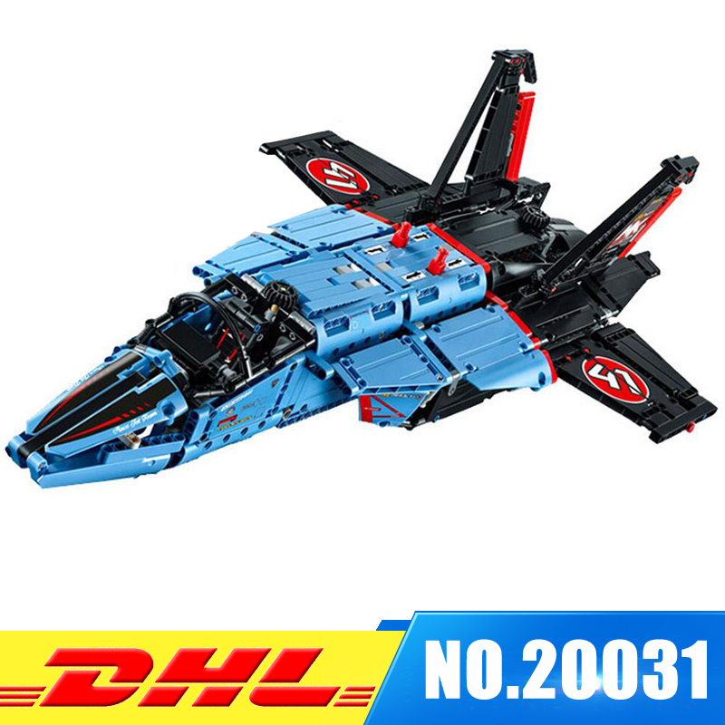 DHL LEPIN 20031 1151pcs new Technic Series The jet racing aircraft Model Building Kits Brick Toy Compatible 42066 lepin 20031 technic the jet racing aircraft 42066 building blocks model toys for children compatible with lego gift set kids