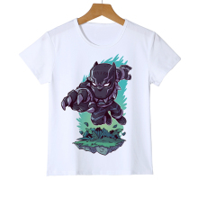 Black Panther Kid T-Shirt Face Marvel Superhero Avengers Civil War New Fashion Teen Girls Boys Summer Clothing T Shirt Z36-8