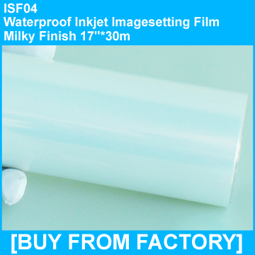 "Waterproof Inkjet Film Milky Finish 17""*30m"