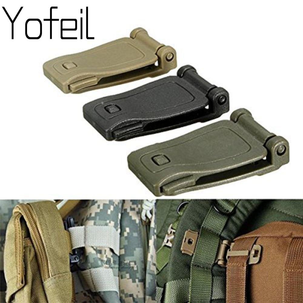 3Pcs/lot Camping Bag Buckle Backpack Webbing Clip Outdoor Tactical SWAT Carabiner Camping Equipment EDC Tools