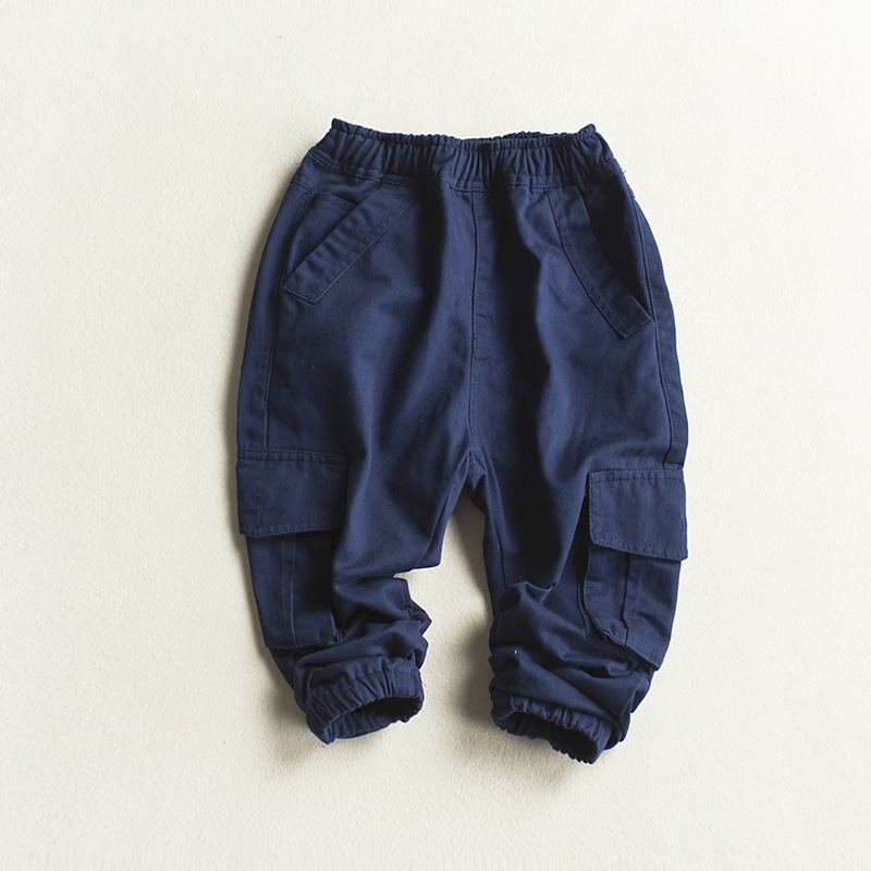 2221cd7f3e Spring Pants for Boys Cotton Baby Boys Cargo Pants Children's Solid  Trousers Khaki Blue with Pockets Pants Boy Kids Clothing-in Pants from  Mother & Kids on ...
