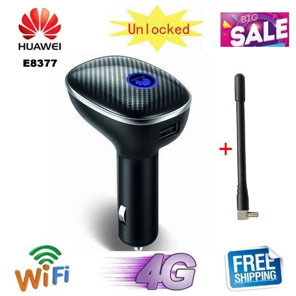 Разблокированный 4g Роутер для автомобиля Huawei CarFi E8377 404HW LTE Hotspot 4G LTE Cat5 12V автомобильный Wi-Fi роутер fdd все диапазоны pk e8278 e8372