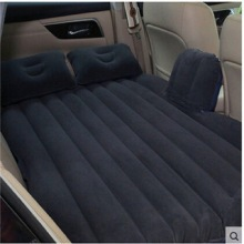 (Black)Car back Seat inflatable Air Mattress bed High quality Car flocking 2Pillows  as gift Travel Bed