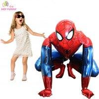 HEY LUSTIGE 1 stück 3D Spiderman & Batman Ballon Für Kinder Geburtstagsgeschenk Mylar super hero Helium Ballon Avengers iron mann folienballons
