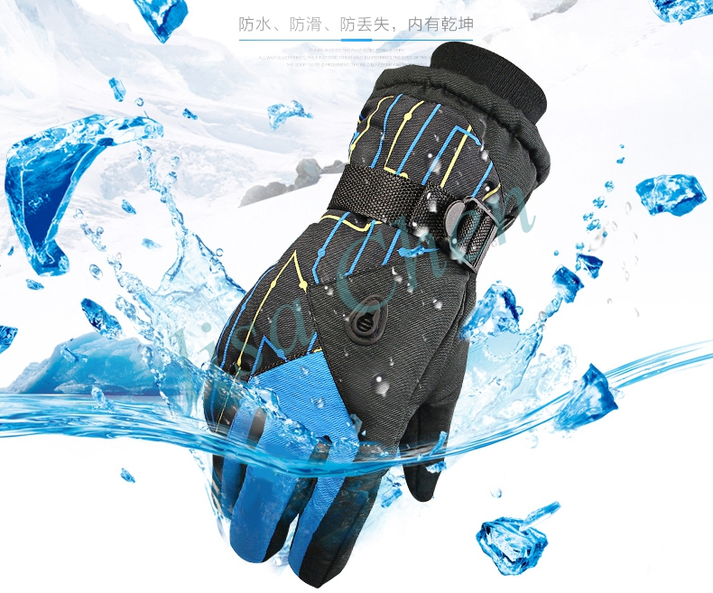 Women ski snowboard font b gloves b font 1 pair winter warm waterproof outdoor motorcycle riding