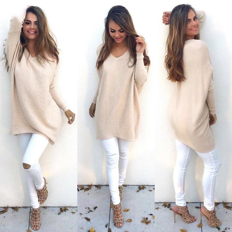 ᗚ2018 primavera invierno suéter mujeres Jersey de punto Casual ...