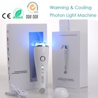 Two Probe Sonic Vibration Hot Cold Blue Red Led Light Therapy Collagen Tightening Face Eye Wrinkle Dark Circle Removal Massager