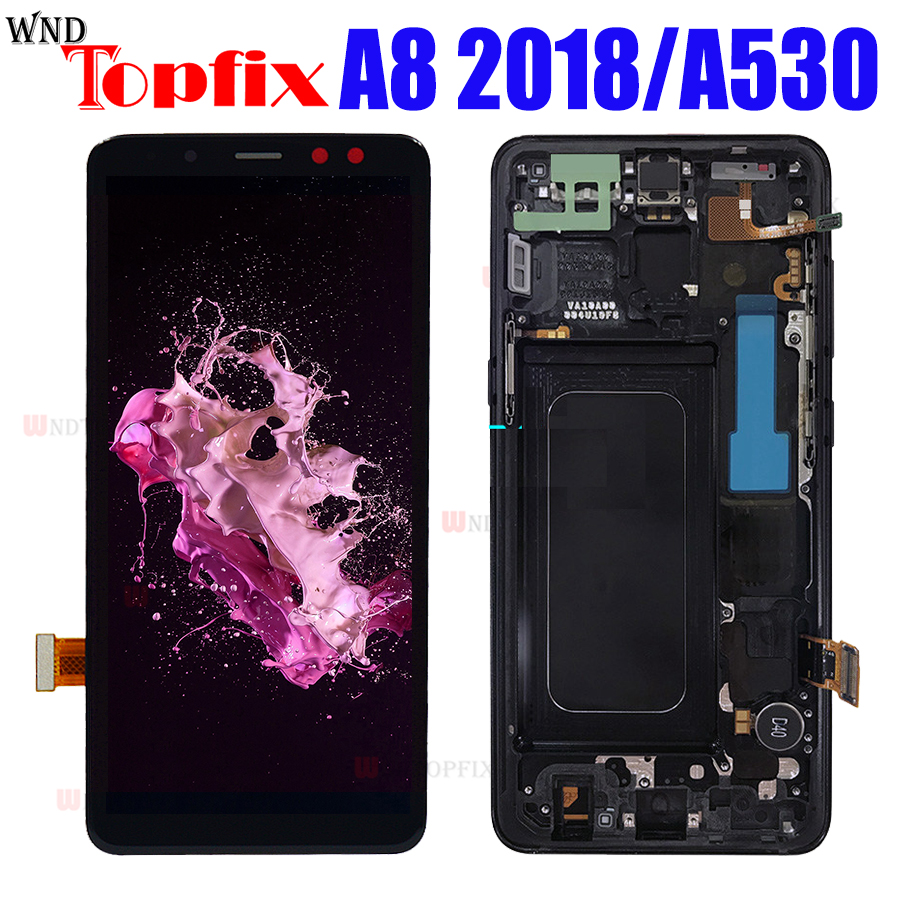 5 6 Inch For Samsung Galaxy A8 2018 LCD Display Touch Screen Digitizer A530F N DS