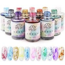 1pc 15ml Watercolor Ink Nail Polish Blooming Gel Smoke Effect Marble Smudge Lqui