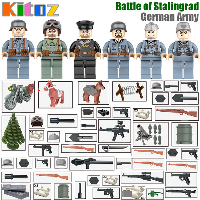 US $2 99 |Kitoz Military Series WW2 Battle of Stalingrad German Army City  Assault Mini Soldier Doll Building Blocks MOC Toy Gift for Boy-in Blocks