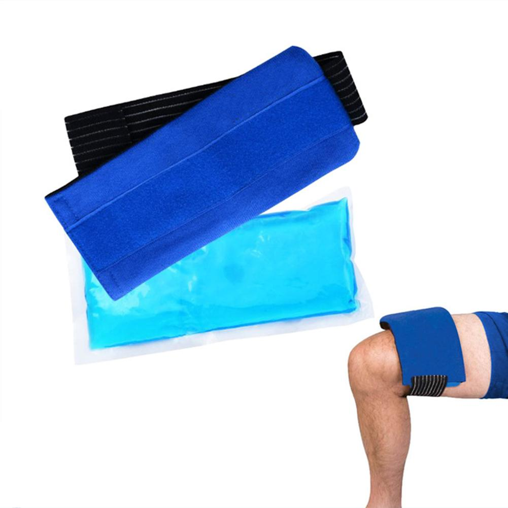 Flexible Gel Ice Pack Belt&Wrap With Elastic Strap For Hot Cold Therapy Sprains Muscle Pain Cold Physiotherapy Bag