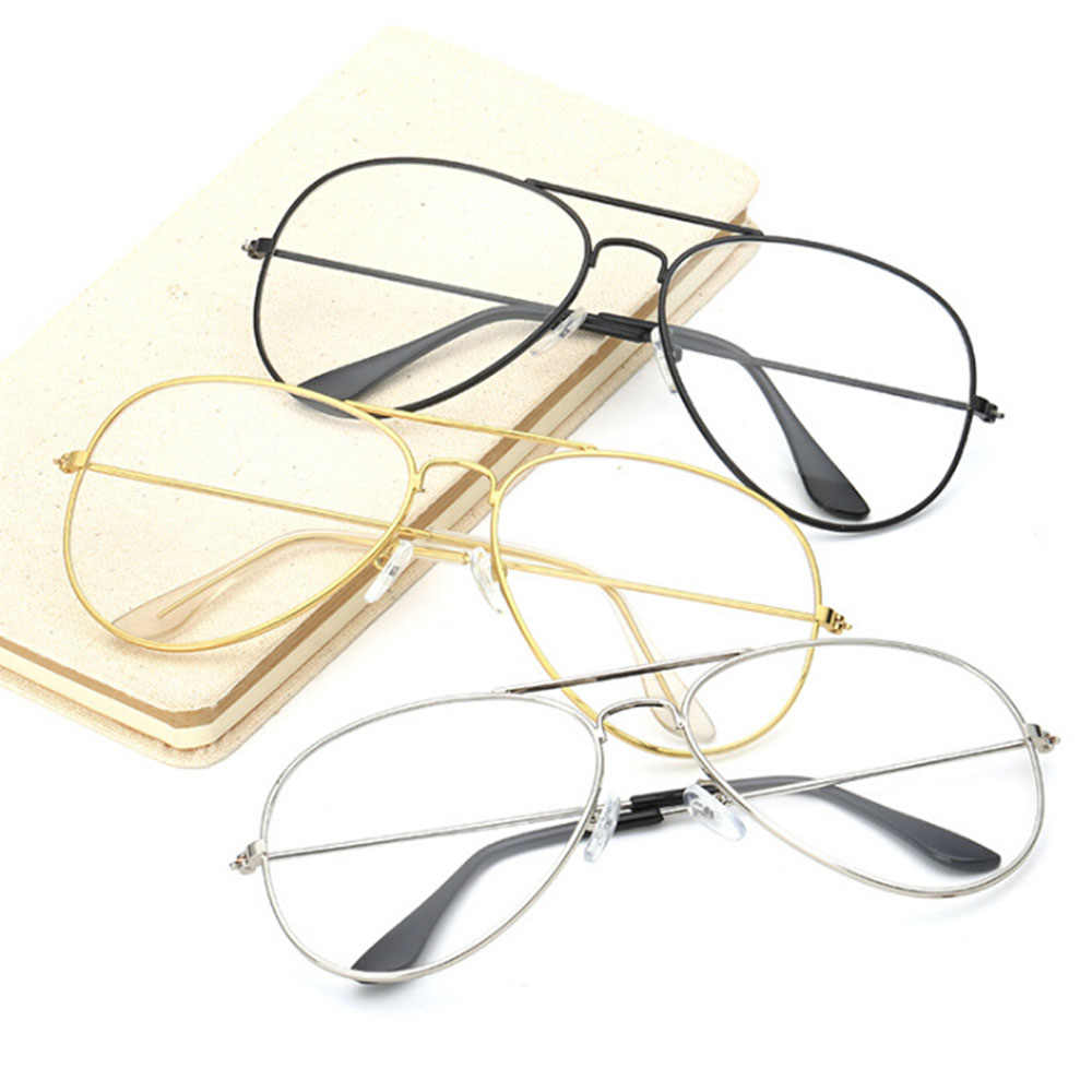 4ce6cdd1d755 ... 1PC Frame Eyeglasses Fashion Women Girls Thin Metal Spectacle Frame  Eyeglasses Clear Lens Glasses New Driver