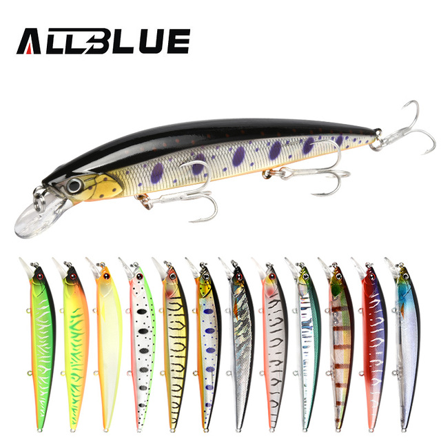 Allblue 2018 Professional приостановить Джеркбейт кольца 130SP рыболовные приманки 130 мм 21,5 г воблер гольян Глубина 1,5-2 м бас приманка для щуки приманку