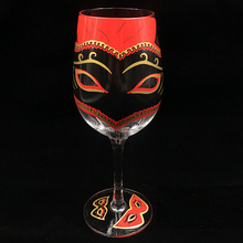 Hand-painted oil painting wine glass Goblet cup Champagne Flute Glass cocktail Round Bar Hotel party Drinkware