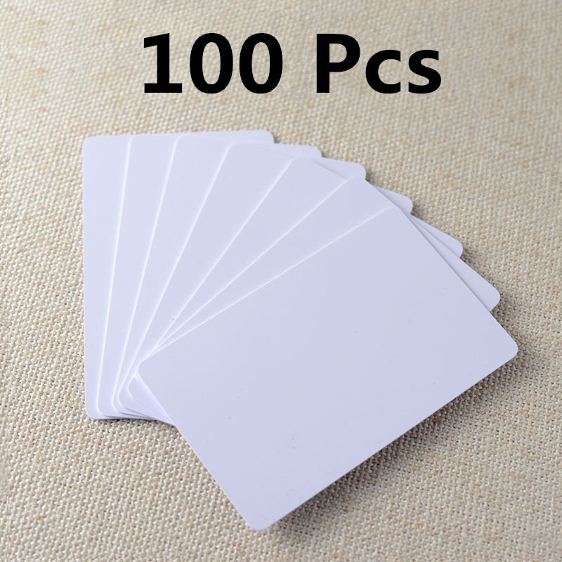 Hot Sale 100pcs/lot Rfid Card 125khz TK4100 Smart Card EM4100 ID Pvc Card With UID Series Number For Access Control System