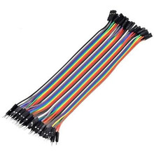 40pcs in Row Dupont Cable 20cm 2.54mm 1pin 1p-1p Female to Male jumper wire