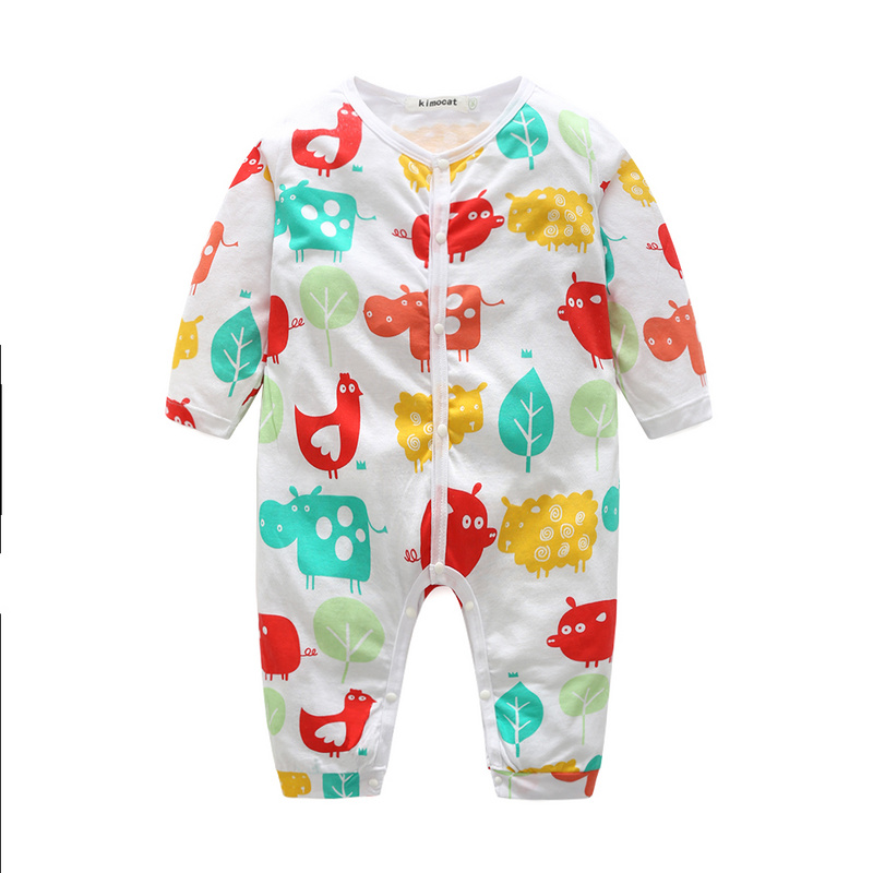 Baby Girls Boys Clothes 3 Kinds of Styles Baby Romper Long Sleeves Baby Jumpsuit Cartoon Printed Newborn