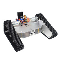 DIY Tracked Tank Chassis Kit Crawler Remote Control Robot Car With DC Motor Mobile Phone Bluetooth
