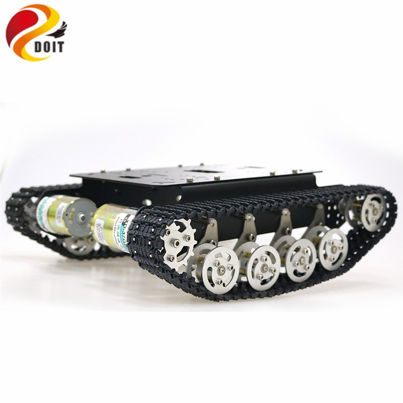 TS100 Shock Absorber Metal Robot Tank Car Kit Chassis for Arduino uno r3 raspberry tracked crawler caterpillar suspension system doit ts100 metal shock absorber robot tank chassis tracked vehicle track car crawler caterpillar for arduino diy rc toy teach