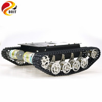 TS100 Shock Absorber Metal Robot Tank Car Kit Chassis for Arduino uno r3 raspberry tracked crawler caterpillar suspension system
