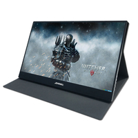 15.6 IPS Portable Monitor 1920x1080 Gaming Display with 2 Type C HDMI Interface For Drone Switch With Leather Case