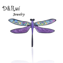 Enamel dragonfly brooch Cute Female Pin Charm Exquisite Animal Metal Brooches Pins 2019 New Fashion Jewelry Women Accessories