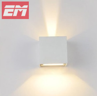 ip65 waterproof outdoor wall lamp 101010cm 6w led white abs up down lighting bathroom light 90260v modern led wall light bathroom down lighting