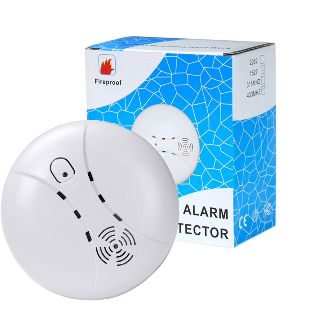 Joysticks Smart Home Wireless 433mhz Smoke Detector Smart Sensor 360 Degree Smoke Auto Fire-alarm Home Security Detection No Need Gateway Video Games