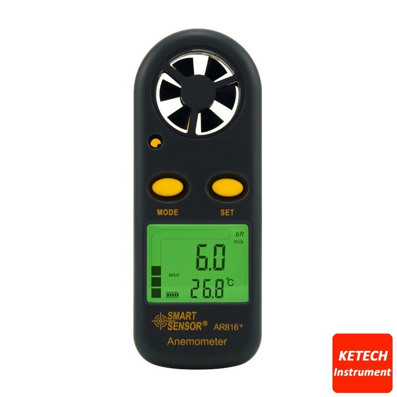 Pocket Anemometer Digital Wind Speed Gauge AR816