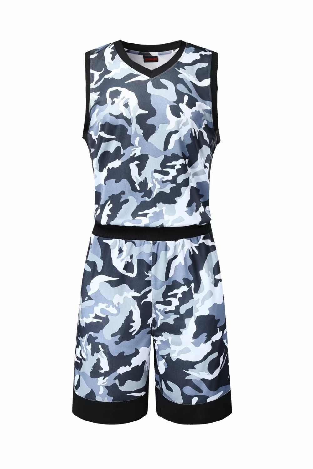 f6e601b02d4 ... Men s camouflage basketball jerseys and shorts adult blank basketball  sets sports basketball vests 2 pockets on ...