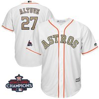 Hombres Houston Astros José Altuve blanco Majestic 2018 Programa de oro bajo fresco Jersey jugador