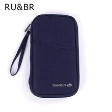 RU&BR New Multicolor Travel Ticket Documents Folder Passport Package Card Packages Multifunctional Travel Long Pouch Wallet