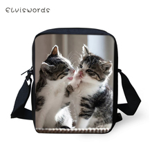 ELVISWORDS Fashion Messenger Bag Little Baby Cats Print Pattern Bags Ladies Luxury Kawaii Crossbody Mini Purses