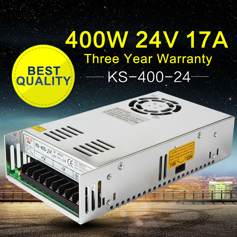 Power Supply 24V 400W AC-DC 24V LED Transformer Adapter SMPS Switch Mode Power Supply for Computer Monitor CCTV Camera Light led transformer 24v 60w ac dc power supply 110v 220v to 24v charger adapter for led strip led module light 3 year warranty
