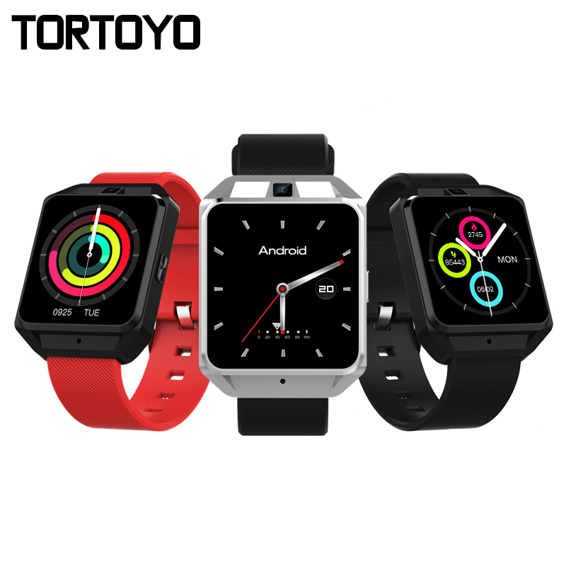 TORTOYO M5 4G Smart Watch Phone Android 6.0 MTK6737 Bluetooth WIFI GPS 5MP Camera 8GB+1GB Heart Rate Monitor Sports Smartwatch dm2018 smart watch android gps sports 4g smartwatch phone 1 54 inch bluetooth heart rate tracker monitor pedometer pk kw88 dm98