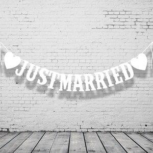 Image 2 - Wedding Buntingเพิ่งแต่งงานPhoto Booth Propงานแต่งงานงานเลี้ยงงานแต่งงานงานตกแต่งธงแบนเนอร์
