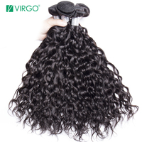 Malaysian Hair Water Wave 3 Bundles Human Hair Weave Bundles Natural Remy Hair Extensions Virgo Hair