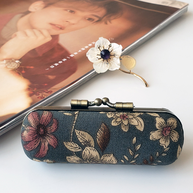 Portable Lipstick Box Bag Environmental Protection Leather Portable Lipstick Box With Mirror Cosmetic Bag Makeup Case