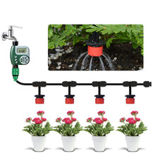 25m Garden  DIY Micro Drip Irrigation System Plant Self Automatic Watering Timer Garden Hose Kits with Adjustable Dripper